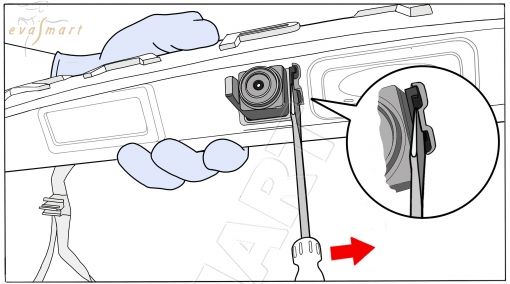 Renault Kaptur 2016 - н.в. омыватель камеры заднего вида