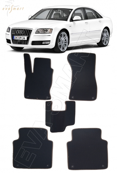 Audi A8 (D3, 4E) Long 2002 - 2010 коврики EVA Smart