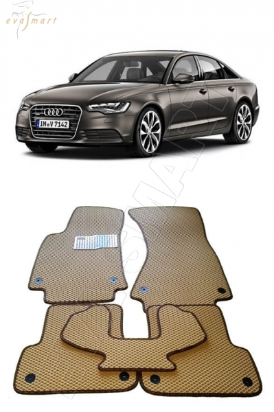 Audi A6 (C7) 2011 - н.в. Автоковрики 'EVA Smart'