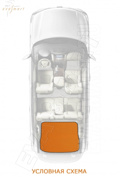 Kia Sorento III Prime 5мест багажник 2014 - н.в. коврики EVA Smart