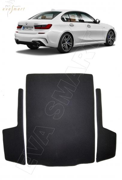 BMW 3 (G20) коврик в багажник 2018 - н.в. EVA Smart