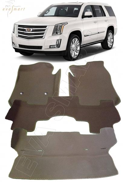 Cadillac Escalade IV 7 мест 3d 2017 - н. в. Автоковрики 'EVA Smart'