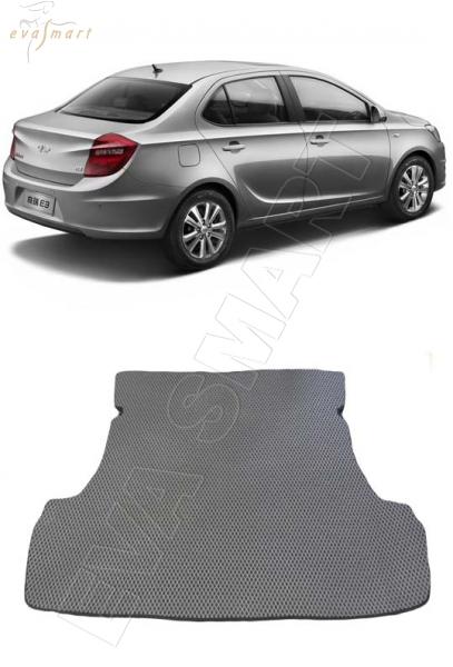 Chery Bonus 3 (Е3/A19) багажник 2014 - н. в. Автоковрики 'EVA Smart'