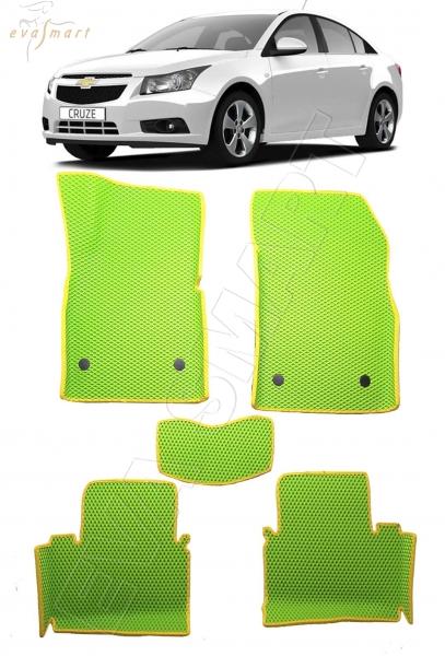 Chevrolet Сruze I вариант макси 3d 2009 - 2015 коврики EVA Smart