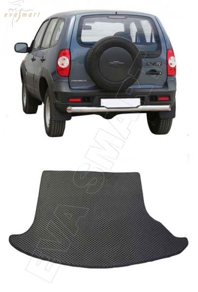 Chevrolet Niva 2002 - 2020 коврик в багажник EVA Smart