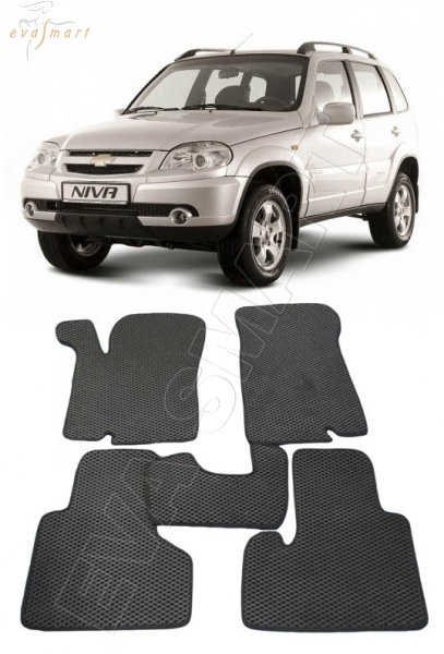 ChevroletNiva 2009- н. в. Автоковрики 'EVA Smart'