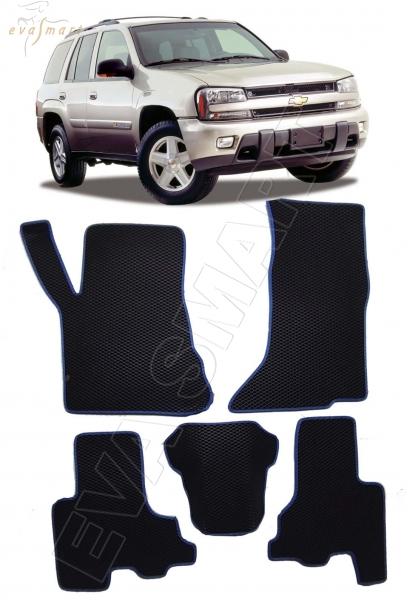 Chevrolet TrailBlazer 2001 - 2009 коврики EVA Smart