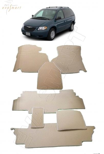 Chrysler Voyager IV 2001 - 2004 коврики EVA Smart