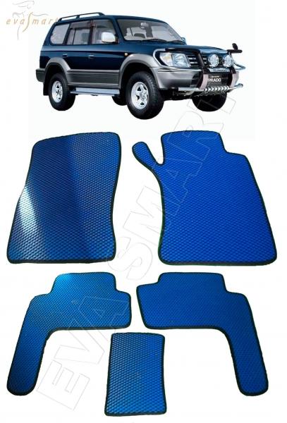 Toyota Land Cruiser Prado 95 правый руль 1996 - 2002 Автоковрики 'EVA Smart'