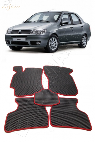 Fiat Albea 2002 - 2012 коврики EVA Smart