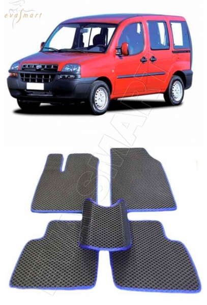 Fiat Doblo 5 мест 2001 - 2005 коврики EVA Smart