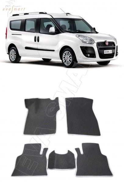 Fiat Doblo l 5 мест 2005 - 2015 Автоковрики 'EVA Smart'