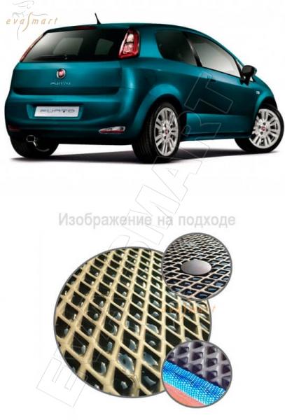 Fiat Punto 2009 - 2012 3d Багажник Коврик багажника EVA Smart