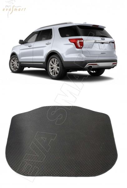 Ford Explorer V 7 мест рестайлинг багажник 2015 - н. в. Автоковрики 'EVA Smart'