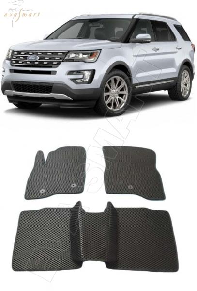 Ford Explorer V рестайлинг 2015 - н. в. Автоковрики 'EVA Smart'