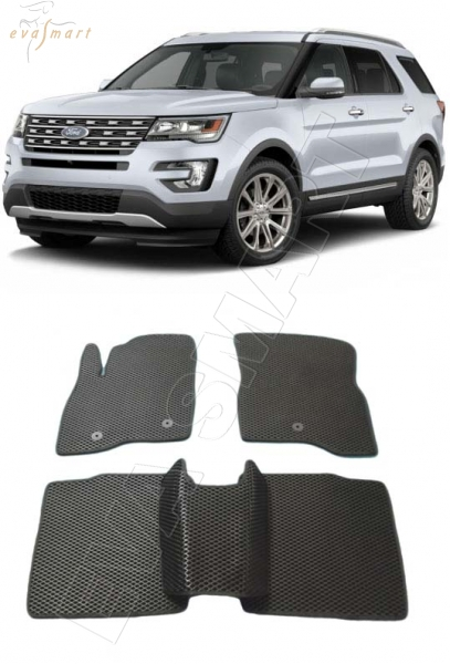 Ford Explorer V рестайлинг 2015 - н.в. коврики EVA Smart