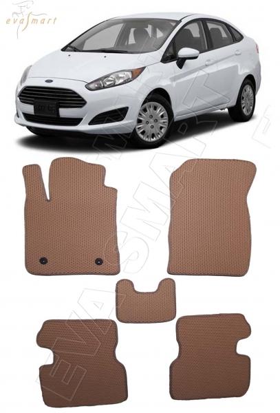 Ford Fiesta VI седан 2012 - 2019 коврики EVA Smart