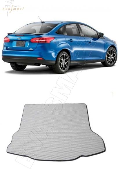 Ford Focus III 2011 - 2019 коврик в багажник седан EVA Smart