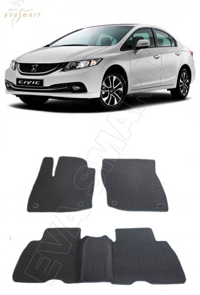 Honda Civic IX хэтчбэк 5дв 2012 - 2015 коврики EVA Smart