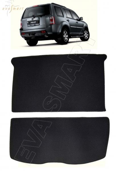 Honda Pilot II коврик в багажник 2008 - 2015 EVA Smart