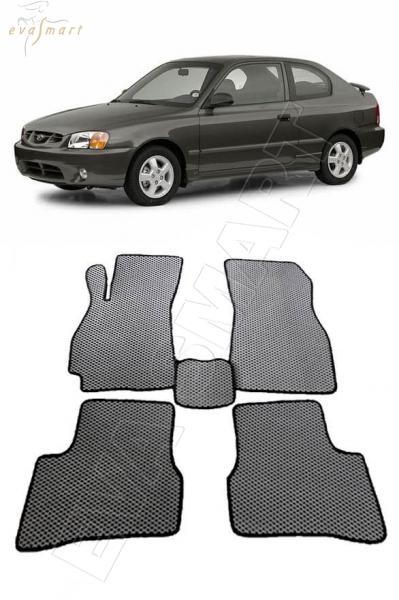 Hyundai Accent II 2000 - 2012 коврики EVA Smart