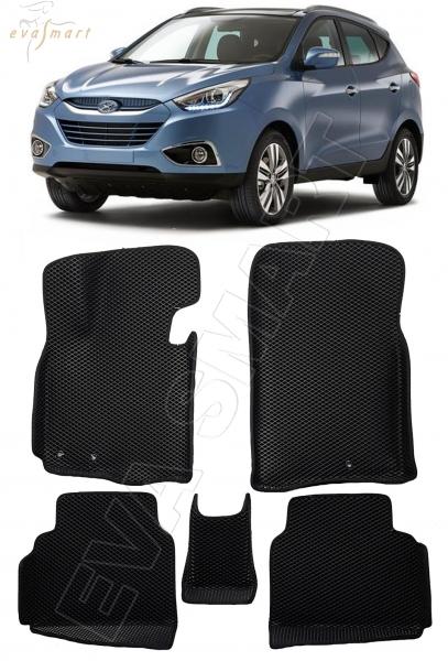 Hyundai ix35 вариант макси 3d 2010 - 2015 коврики EVA Smart
