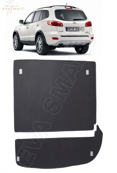 Hyundai Santa Fe II 7 мест 2006 - 2013 коврик в багажник EVA Smart