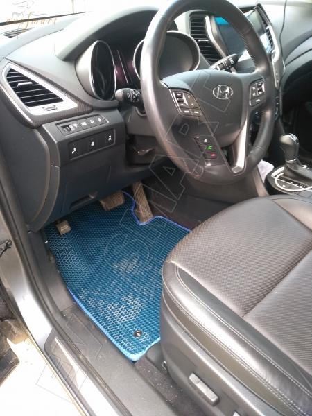 Hyundai Santa Fe III 2012 - 2018 коврики EVA Smart