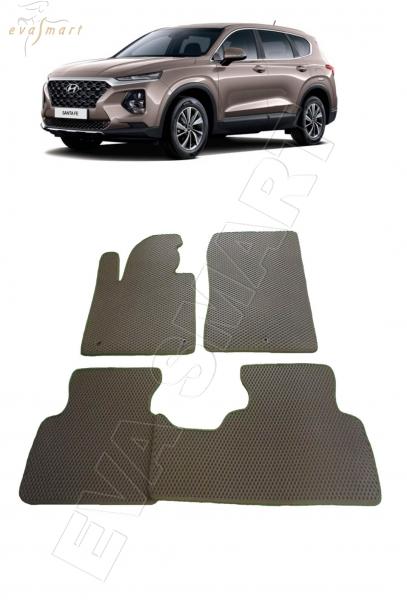 Hyundai Santa Fe IV 5 мест 2018 - н.в. коврики EVA Smart