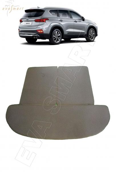 Hyundai Santa Fe IV 7мест багажник 2018 - Автоковрики 'EVA Smart'