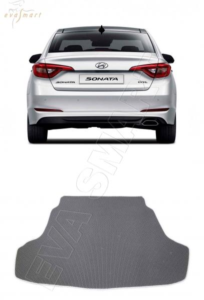 Hyundai Sonata (LF) VII рестайл багажник 2017 -  Автоковрики 'EVA Smart'