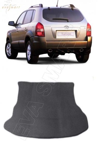 HyundaiTucson багажник 2004 - 2010 Автоковрики 'EVA Smart'