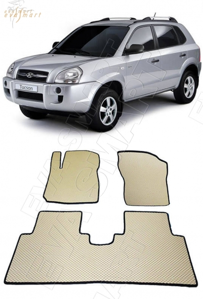 Hyundai Tucson 2004 - 2010 коврики EVA Smart