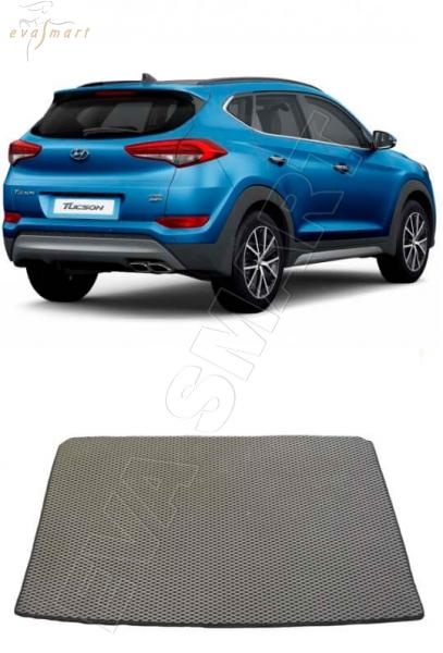 HyundaiTucson багажник 2015 - н. в. Автоковрики 'EVA Smart'