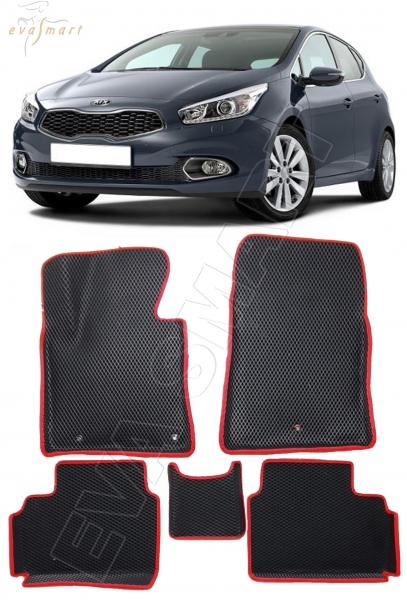 Kia Ceed II вариант 3d макси 2012 - 2018 коврики EVA Smart