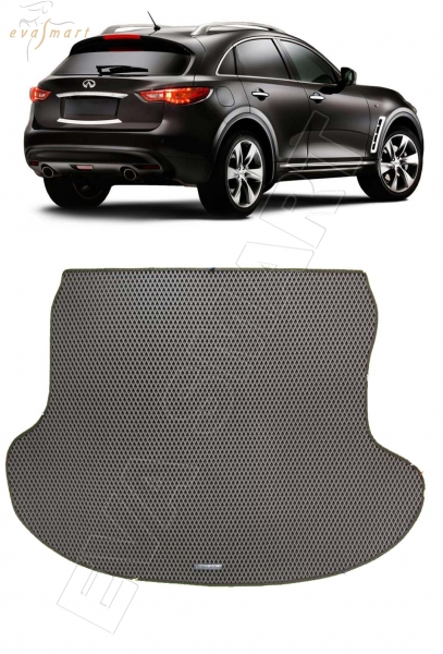 Infiniti FX II 2009 - 2013 коврик в багажник EVA Smart