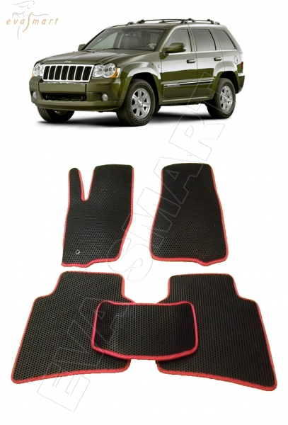 Jeep Grand Cherokee (Wk) 2004 - 2010 коврики EVA Smart