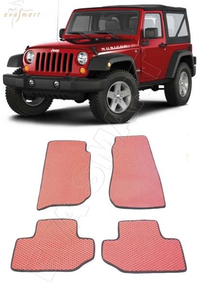 Jeep Wrangler III (JK) 3дв 2007 - н. в. Автоковрики 'EVA Smart'