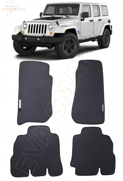 Jeep Wrangler III (JK) 5дв 2007 - 2018 коврики EVA Smart