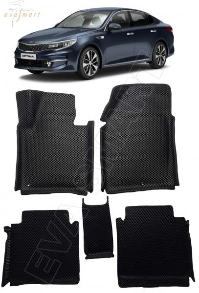 Kia Optima IV вариант макси 3d 2016 - н.в. коврики EVA Smart