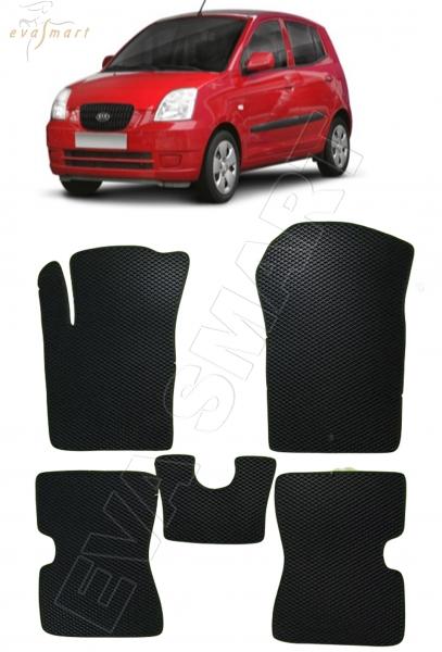 Kia Picanto I 2004 - 2011 коврики EVA Smart
