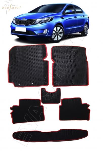 Kia Rio III вариант макси 3d 2011 - 2017 коврики EVA Smart