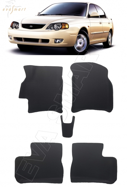 Kia Shuma II вариант макси 3d 2001 - 2004  коврики EVA Smart