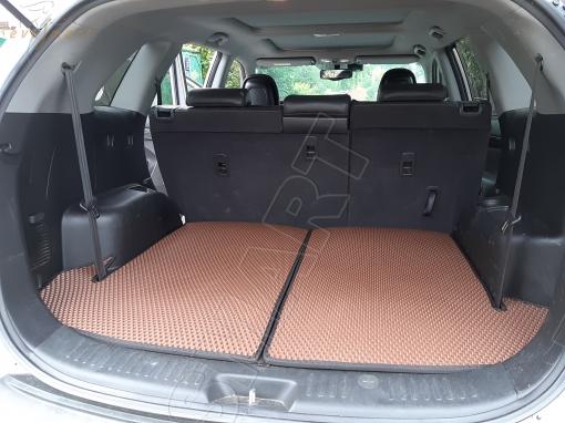 Kia Sorento II TLX 7 мест 2009 - 2012 коврик в багажник EVA Smart
