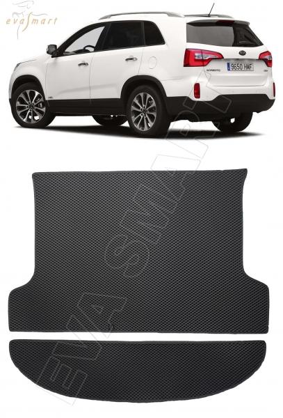 Kia Sorento II рестайлинг 2012 - 2020 коврик в багажник EVA Smart
