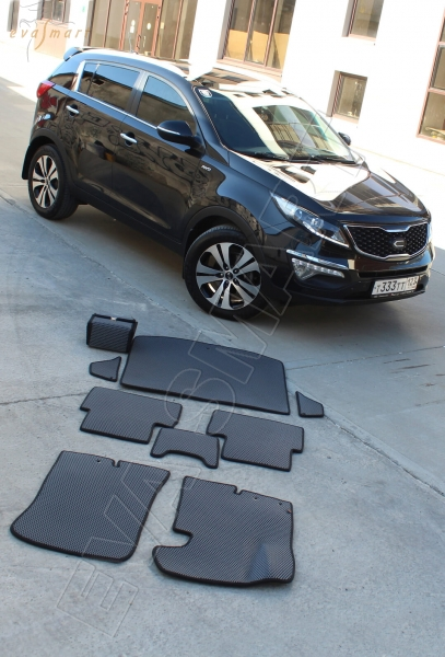 Kia Sportage III 2010 - 2015 коврики EVA Smart