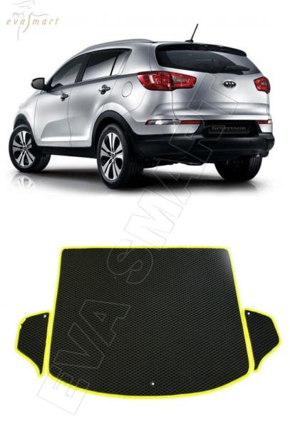 KiaSportage III багажник 2010 - 2015 Автоковрики 'EVA Smart'