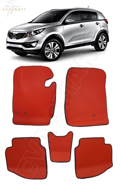 Kia Sportage III вариант макси 3d 2010 - 2015 коврики EVA Smart