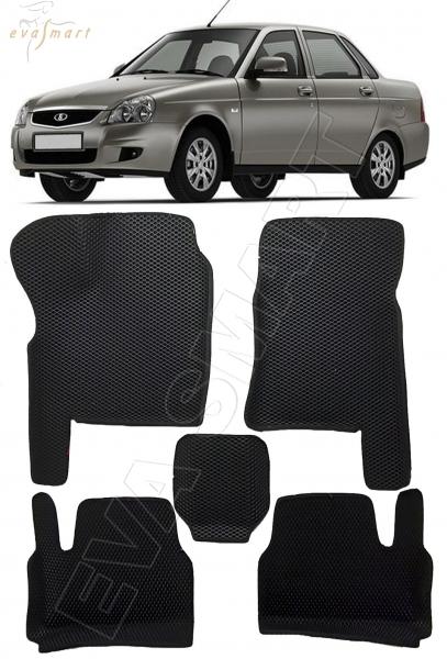 Lada Priora вариант макси 3d 2007 - н.в. коврики EVA Smart