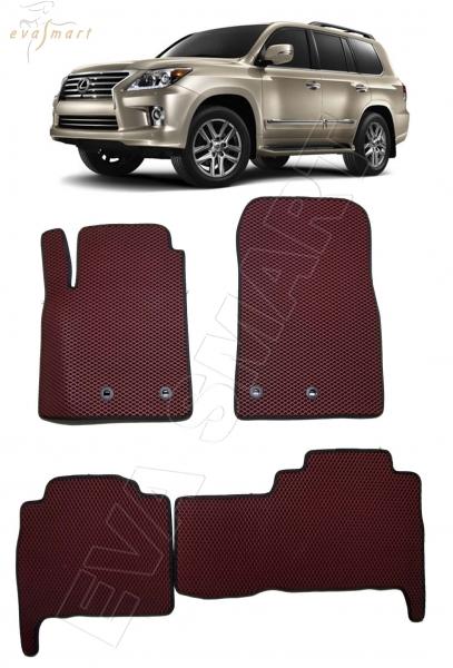 Lexus LX 570 5 мест 2012 - н.в. коврики EVA Smart
